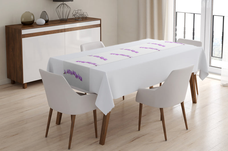 Table Runner Awesome Lilac Orchids - Wellmira