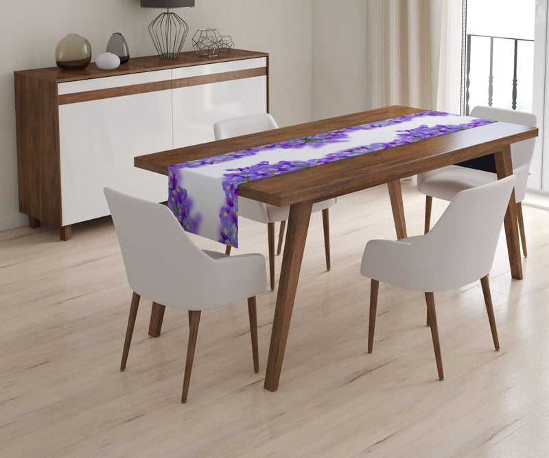 Table Runner Spring Irises - Wellmira
