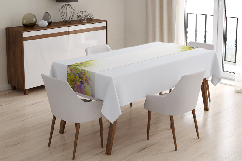Table Runner Summer field flowers - Wellmira