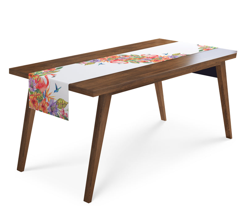Table Runner Tropical Flamingo - Wellmira