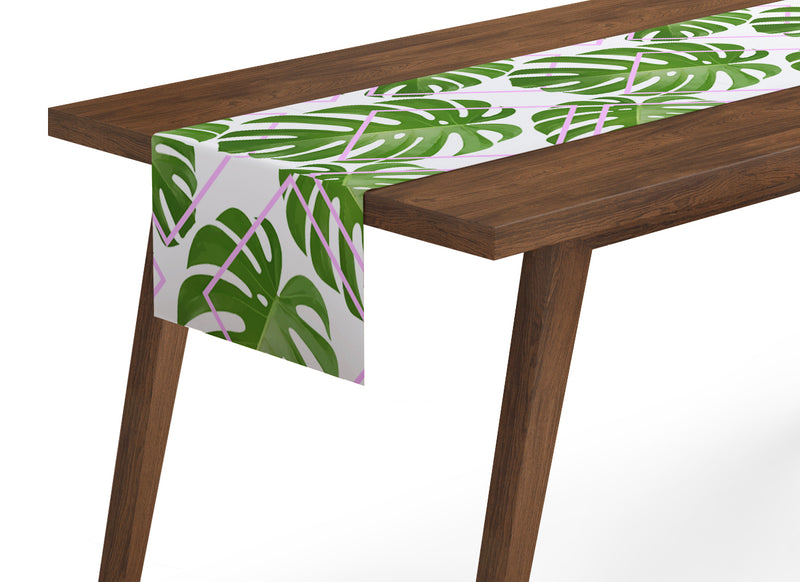 Table Runner Tropical Palm Leaves - Wellmira