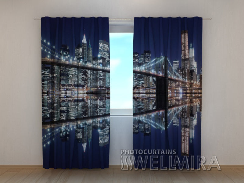 Photo Curtain The Lights of Brooklyn - Wellmira