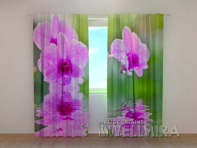 Photocurtain Three Orchids - Wellmira