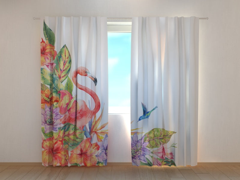 Photocurtain Tropical Flamingo - Wellmira