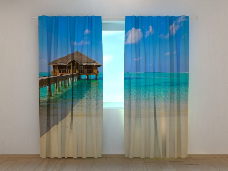 Photo Curtain Tropical beach at Maldives