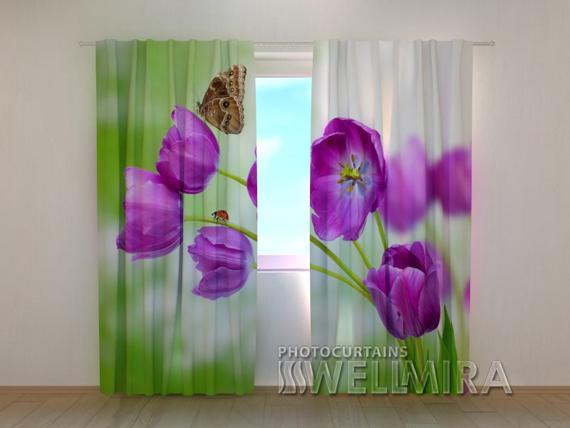 3D Curtain Tulips - Wellmira