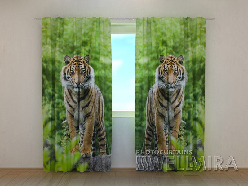 3D Curtain Two Tigers - Wellmira
