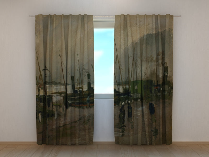 Photocurtain The De Ruijterkade in Amsterdam Vincent van Gogh - Wellmira