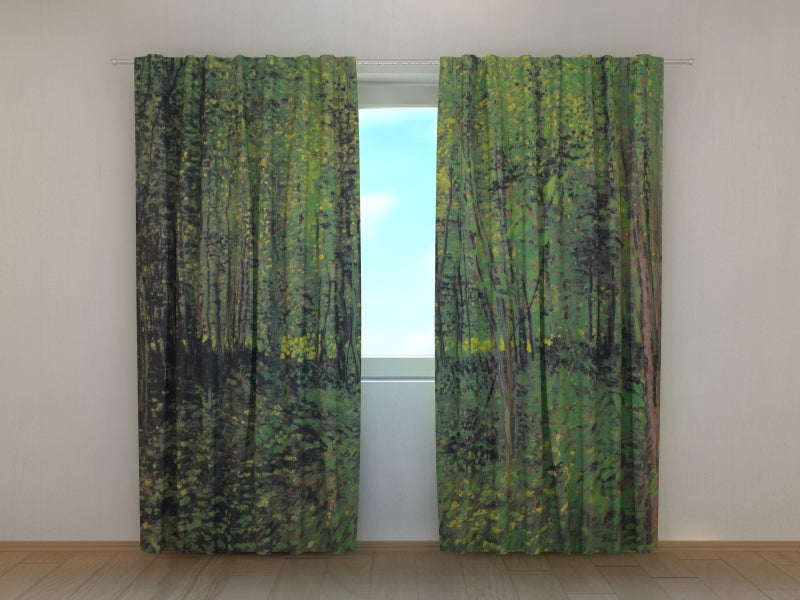 Photocurtain Trees and Undergrowth Vincent van Gogh - Wellmira