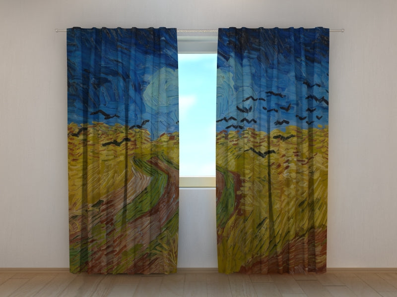 Photocurtain Wheatfield with Crows Vincent van Gogh - Wellmira