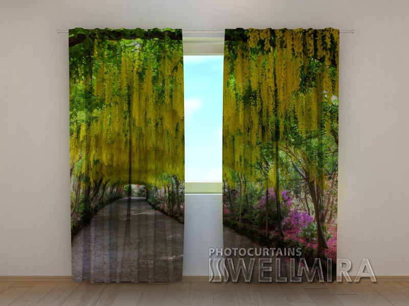 Photo Curtain Walkway in Flowers - Wellmira