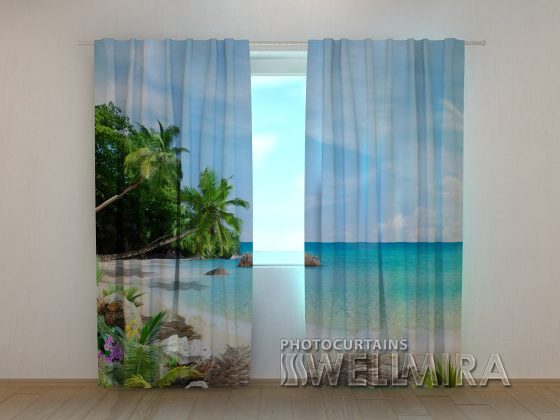 Photo Curtain Warm Coast - Wellmira