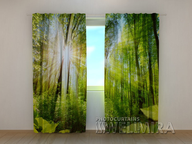 Photo Curtain Warm Rays - Wellmira