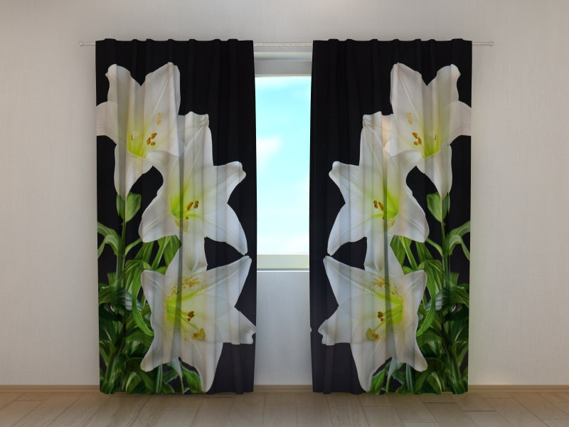 Photo Curtain White Lilies 2 - Wellmira