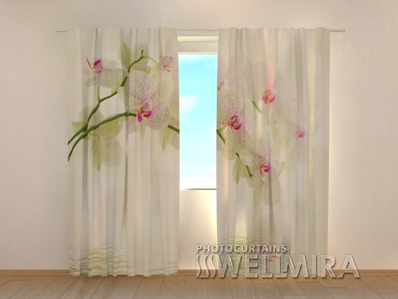 Photocurtain White Flowers - Wellmira