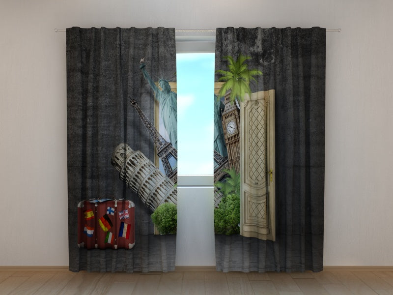 Photo Curtain Whole World behind the Door