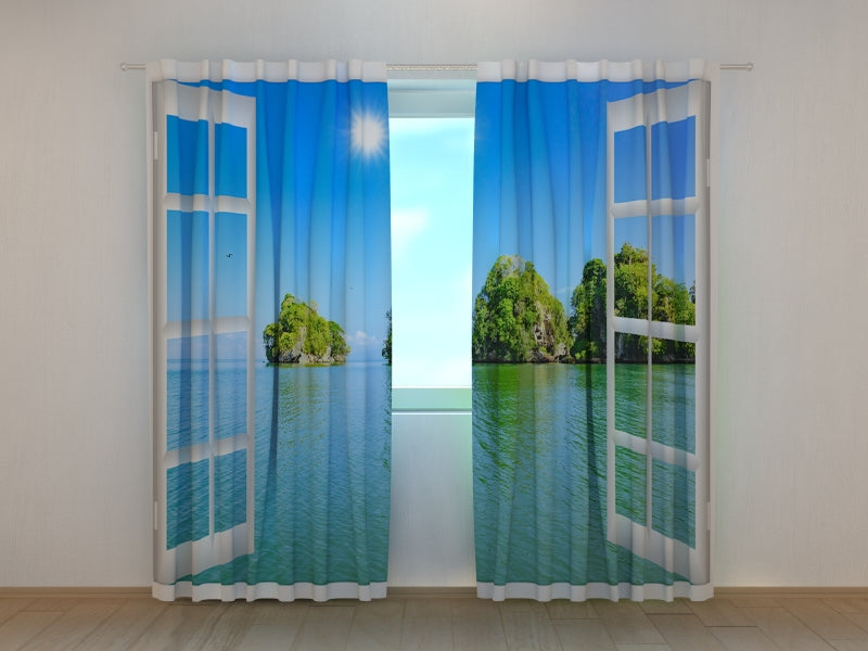 Photo Curtain Window view of the Ocean - Wellmira