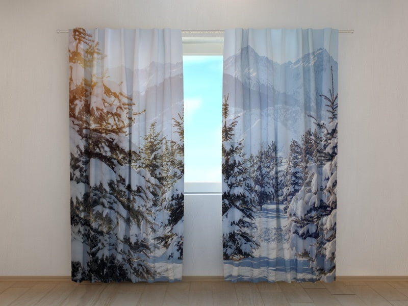 Photo Curtain Winter Sun