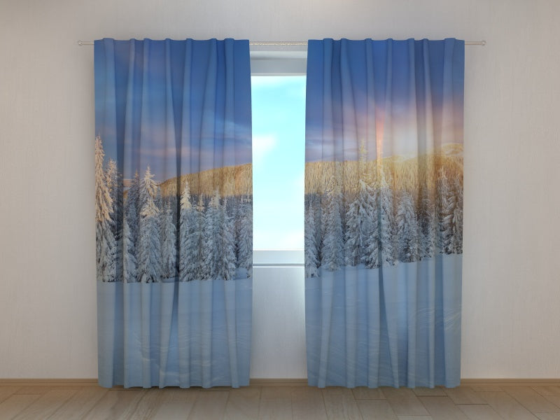 Photocurtain Winter Sunrise - Wellmira
