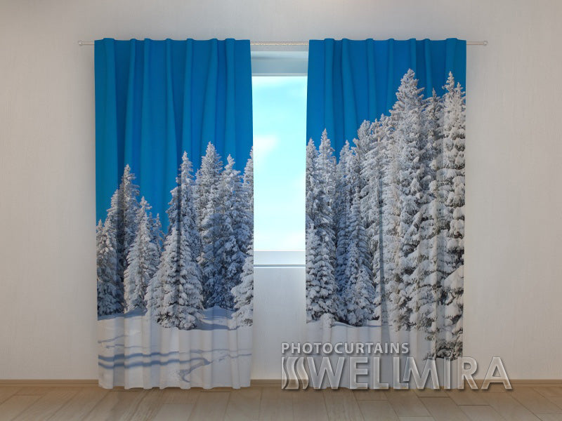 Photo Curtain  Winter in the Forest 2 - Wellmira