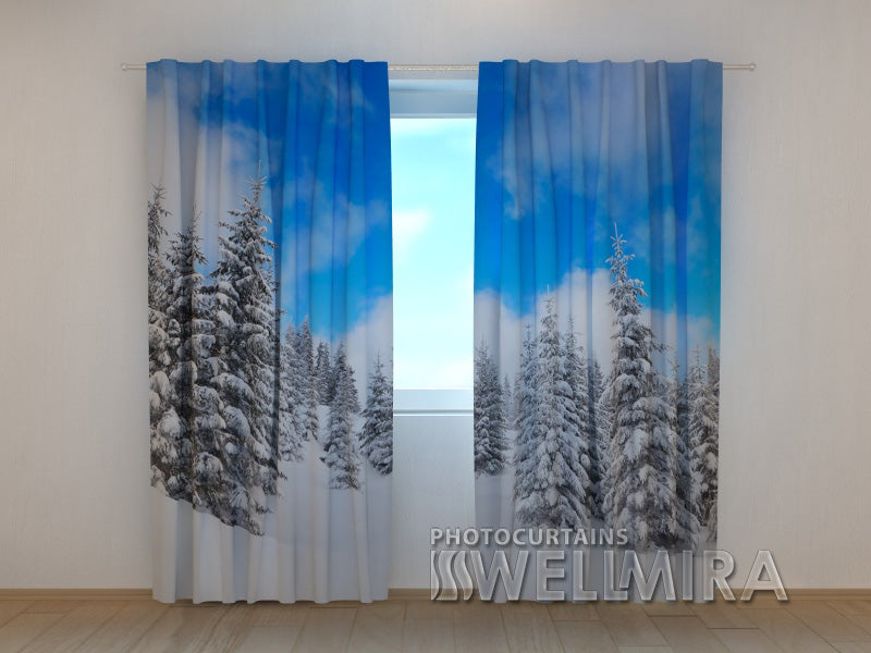 3D Curtain Winter in the Forest - Wellmira