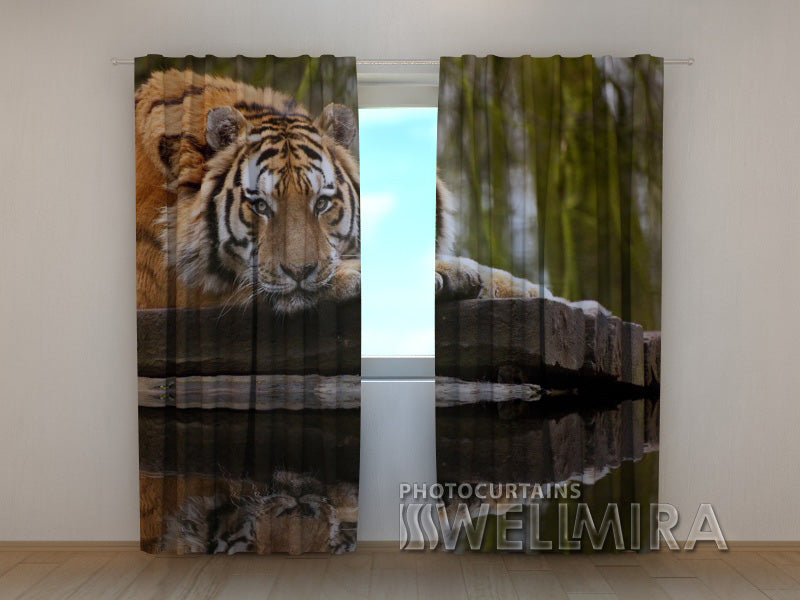 3D Curtain Wisdom of Tiger - Wellmira