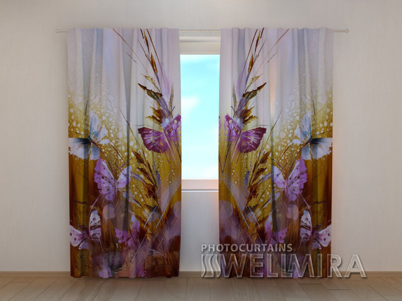 3D Curtain Butterflies and Flowers - Wellmira