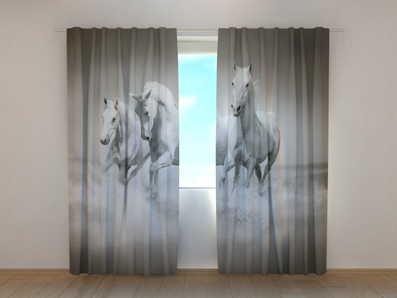 3D Curtain White Gracefulness - Wellmira