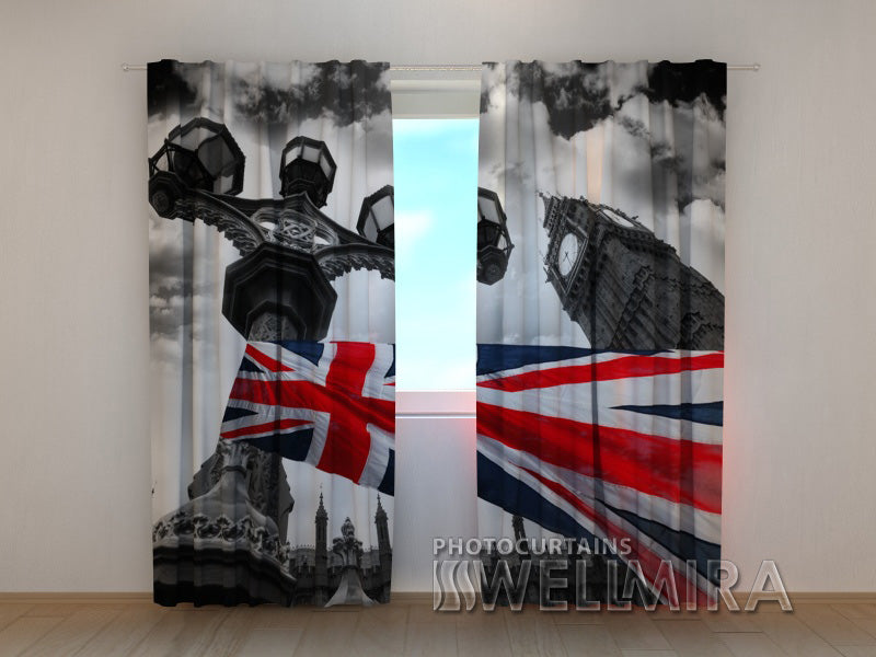 Photo Curtain British Flag - Wellmira