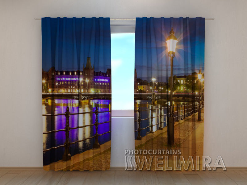 Photo Curtain Stockholm Seafront - Wellmira