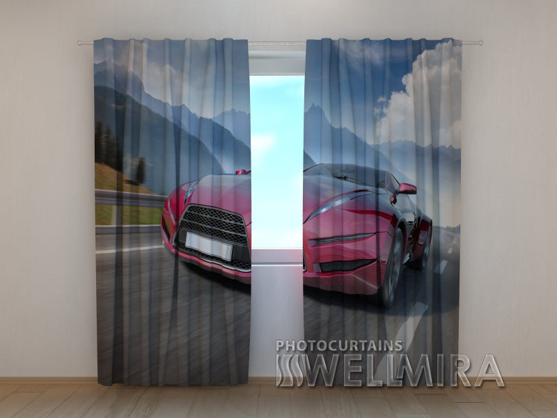 3D Curtain Supercar 2 - Wellmira