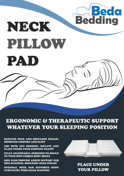 Neck Pillow Pad - Fully Adjustable Neck Pillow | Improves back and side sleeping | For better sleep