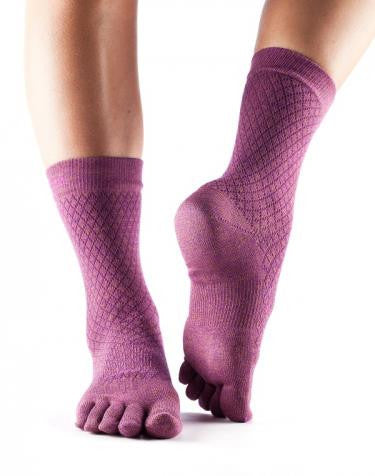 ToeSox Crew Casual Full Toe Yoga Socks
