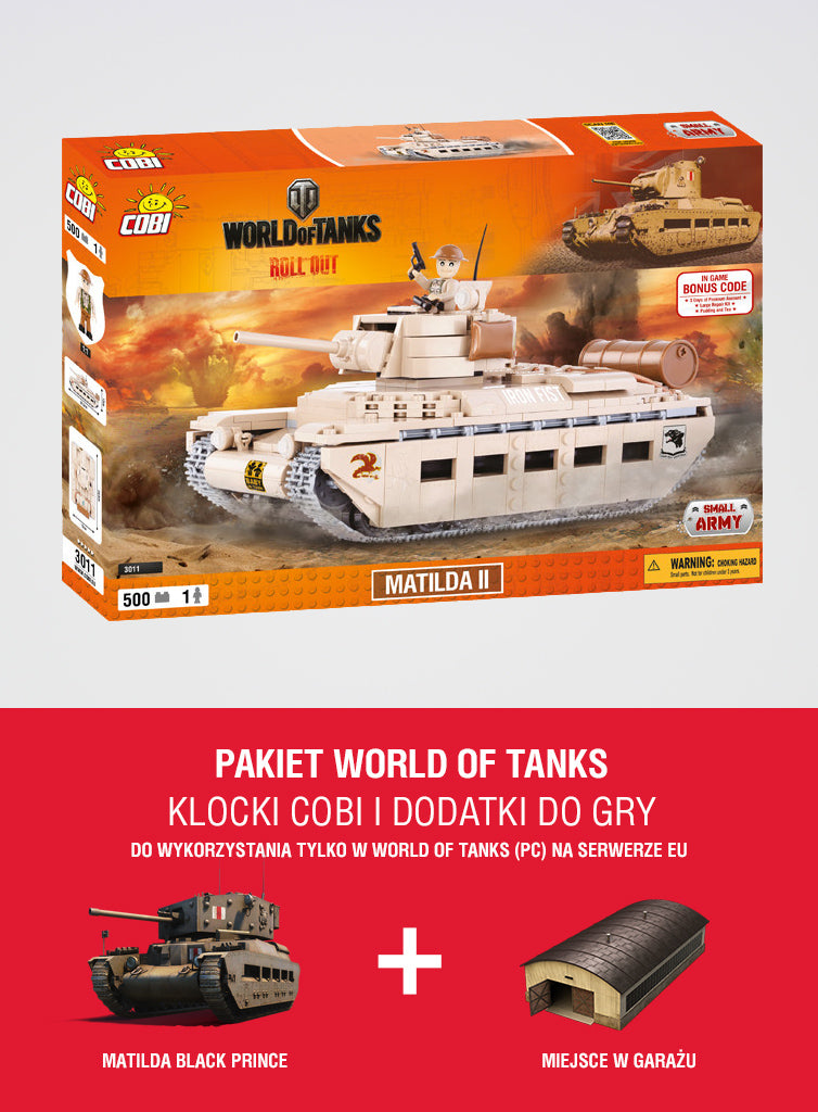World of Tanks Bundle Matilda II Construction Blocks + special in-game content