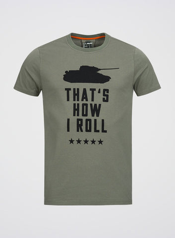 World of Tanks That's How I Roll Olive T-shirt