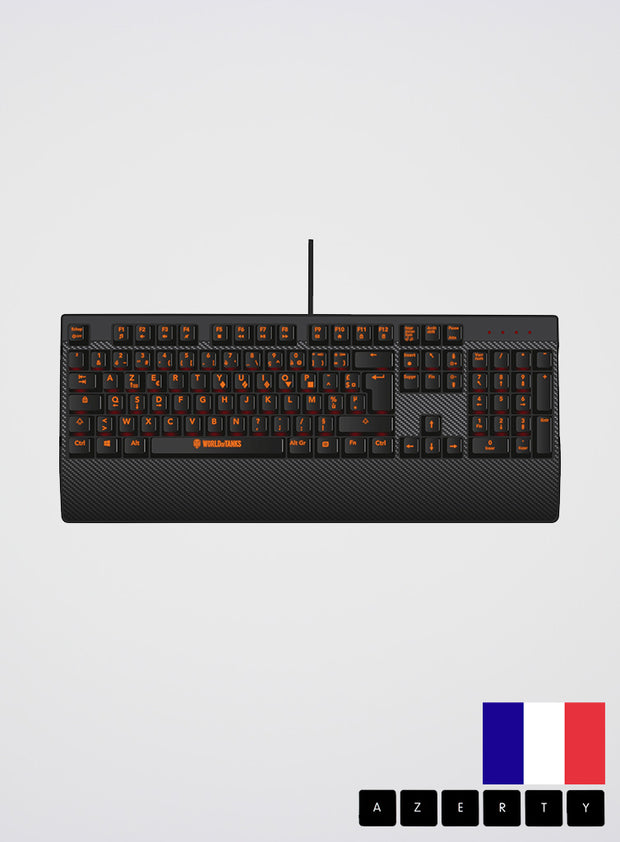 World Of Tanks KONIX K-70 MK Mechanical Keyboard French AZERTY layout