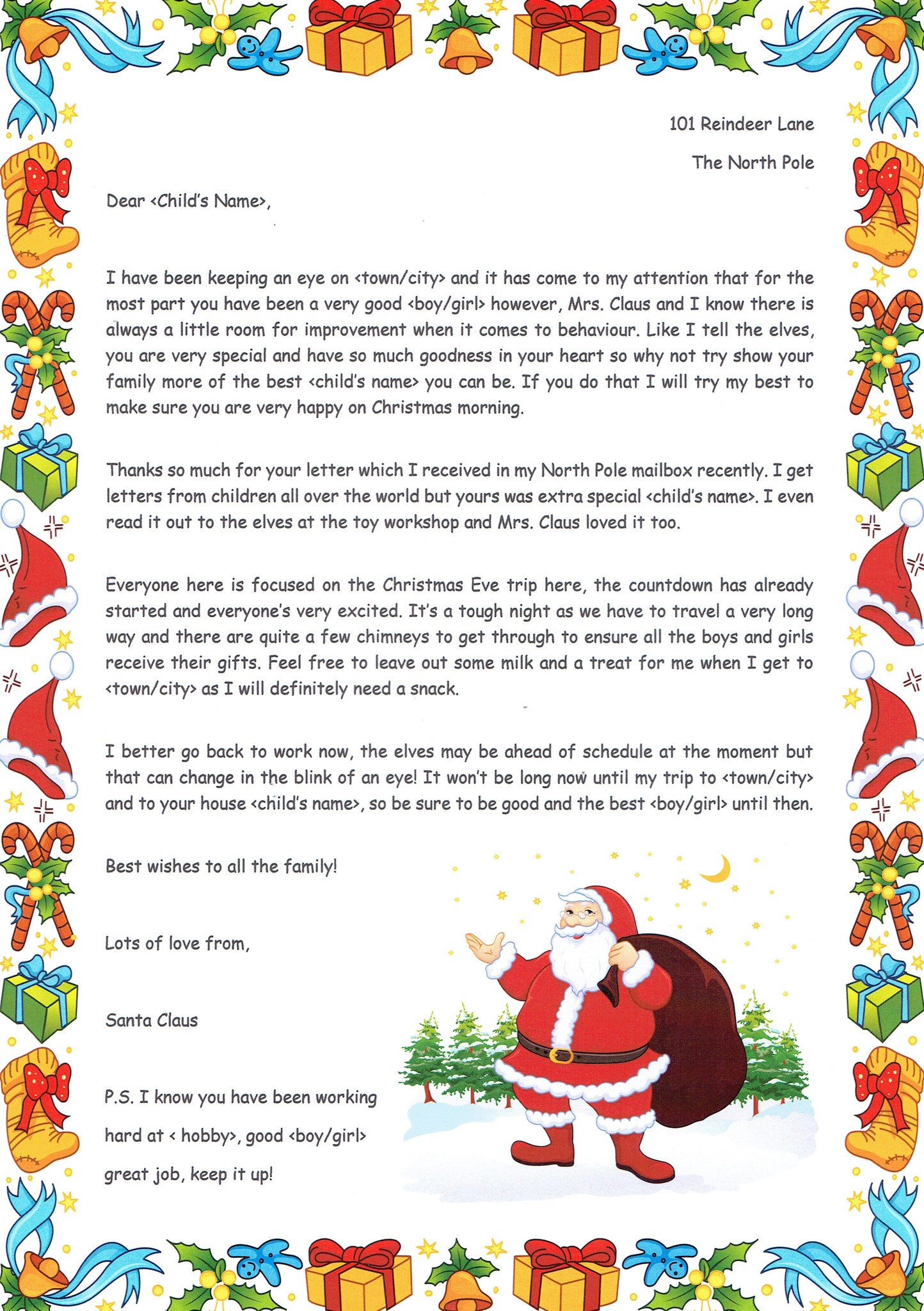 Santa U2013 Received Your Letter