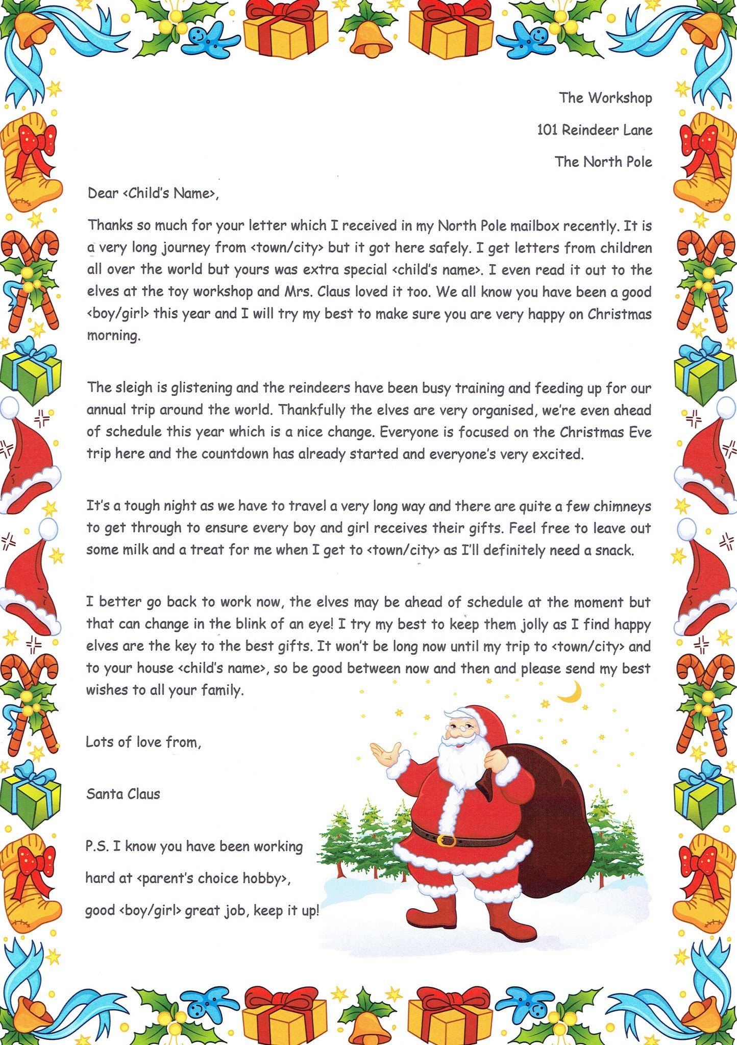 Santa – A reminder to be good