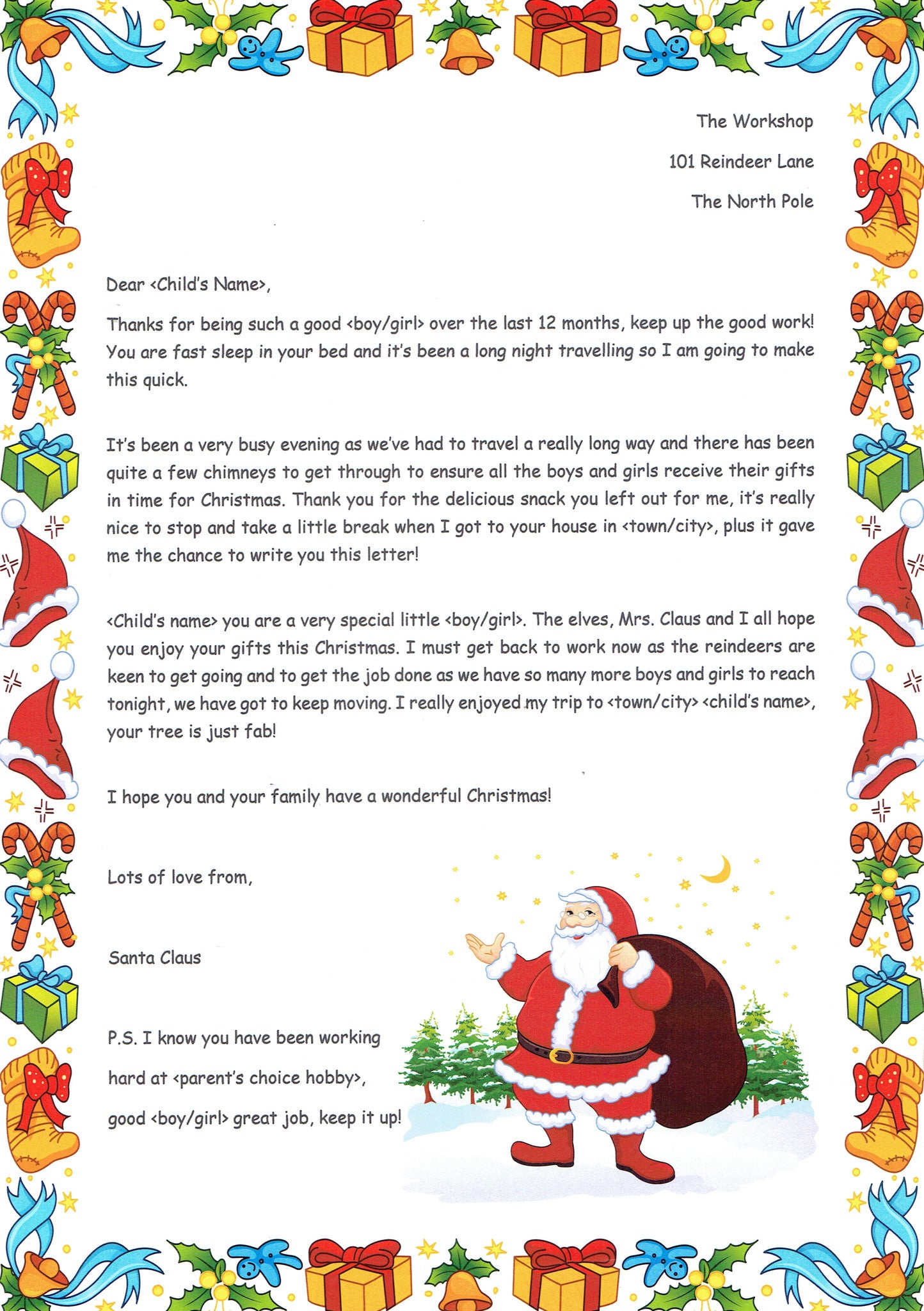 Santa  Christmas Morning  The Letter Fairy