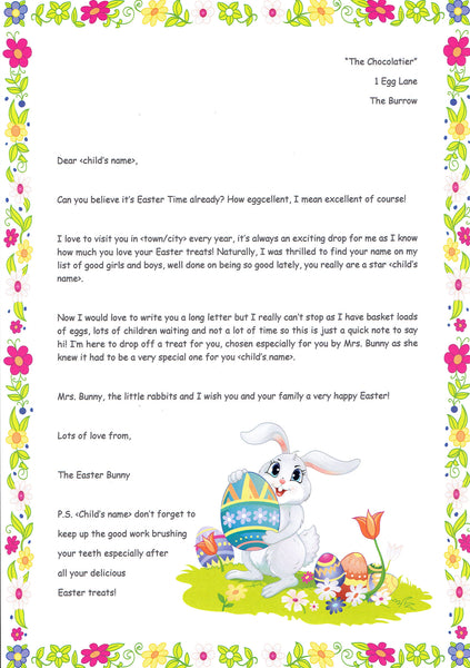 Easter Bunny  The Letter Fairy