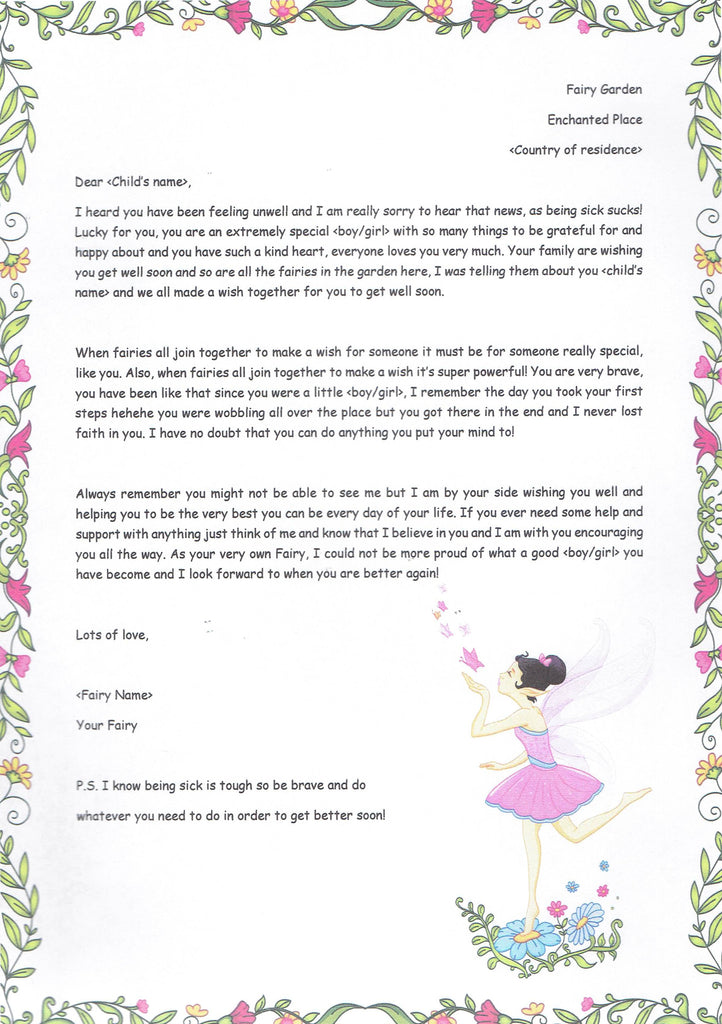 Get Well Soon Letter