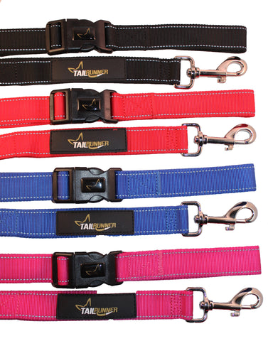 Convenient leash, great for everyday walking, road running, trail running or parkrun. Comfortable, strong and durable. Can be used as a standard dog lead or unclip the handle to wear around waist/wrist/arm or use as a temporary tether.