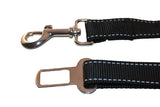Adjustable dog seat belt restraint