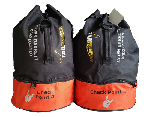 Checkpoint, bag drop bag, duffel bag. Perfect for Ultra Running and events at checkpoints. Ultra Trail Australia. UTA. Brisbane Trail Ultra. BTU