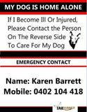 Emergency Contact Card