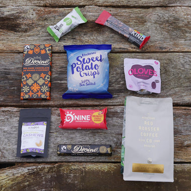 coffee, chocolate and snack subscription box