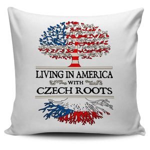 Living in America With Czech Roots Pillow Covers