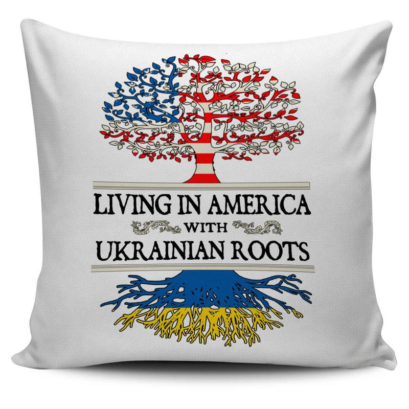Living in America With Ukrainian Roots Pillow Covers