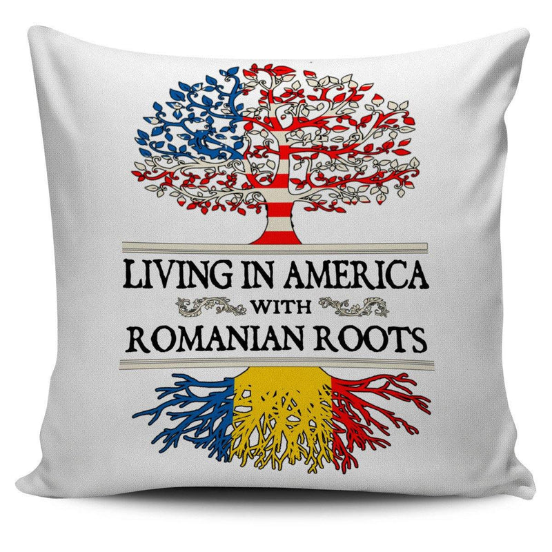 Living in America With Romanian Roots Pillow Covers