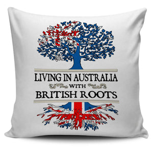 Living in Australia With British Roots Pillow